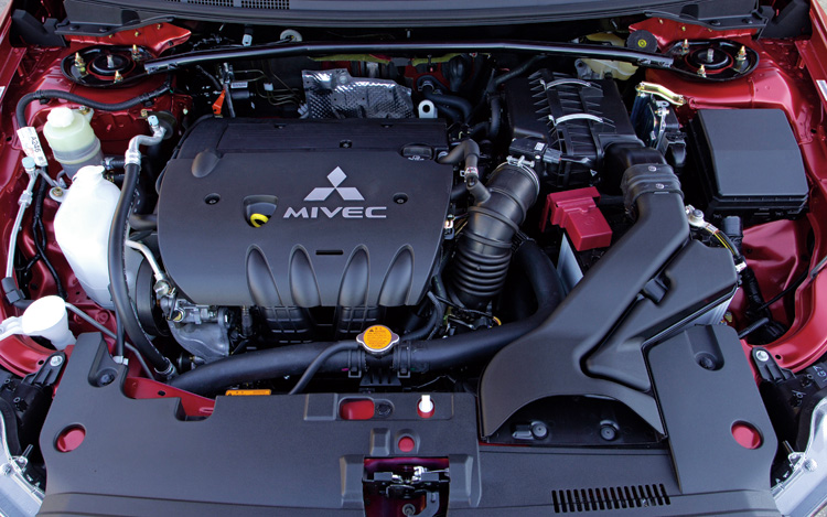 engine diagram for 2009 chrysler seibring 2008 mitsubishi lancer gts - first test - motor trend diagram for 2009 mitsubishi lancer engine #14