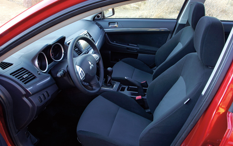 2008 mitsubishi lancer gts first test motor trend. Black Bedroom Furniture Sets. Home Design Ideas